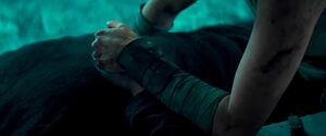 Ben and Rey holding hands