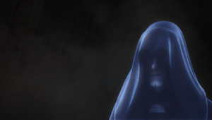 Emperor Palpatine projected
