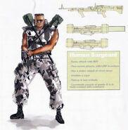 Human Sarge Concept Art