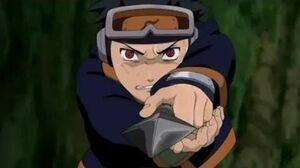 Obito's death Obito gives his Sharingan to Kakashi Kakashi uses Sharingan 1st time Naruto eng