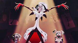Cruella De Vil in 101 Dalmation Street
