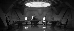 Kylo in the conference room concept art