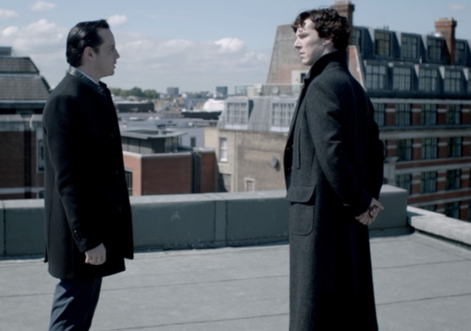 Image Moriarty And Sherlock Rooftop Png Villains Wiki