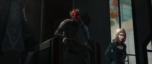 Darth Maul berates Kenobi