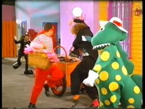 Dorothy, Wally, Rose Robber and Officer Beaples