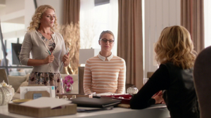 Eve as Cat Grant's assistant