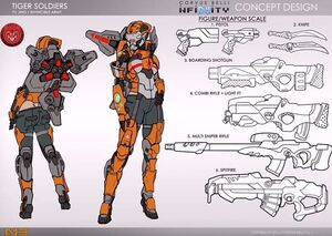 Female Tiger Soldier (Infinity)