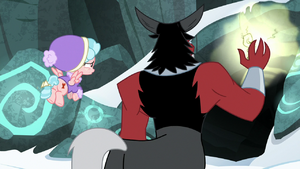 Lord Tirek touching the magic barrier S9E8
