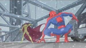Spectacular Spider-Man (2008) Spider-Man vs Mysterio bridge fight
