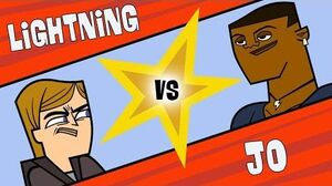 TOTAL DRAMA Jo vs Lightning Fit, Tough and Hateful enemies