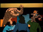 Clayface confronts Daggett