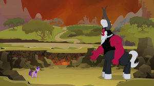 Twilight facing Tirek S4E26