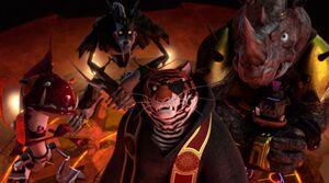 Tiger Claw, Xever, Bradford and Steranko