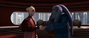 Chancellor Palpatine handles