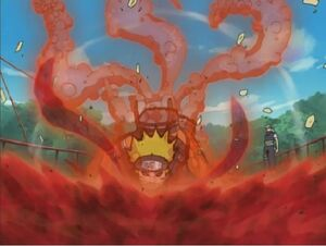 Naruto's Three-Tailed Form