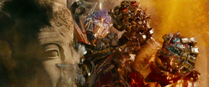 Optimus kills the Fallen