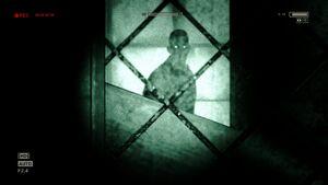 Eddie seen behind boarded doors