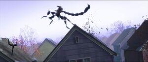 Scorpion chasing Spider-Woman