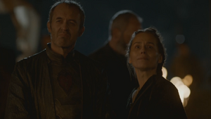 Selyse with stannis during sacrifices