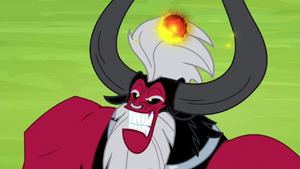 Tirek about to shoot a laser beam S4E26