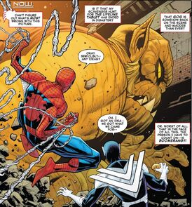 Frederick Myers (Earth-616),Gog (Tsiln) (Earth-616) and Peter Parker (Earth-616) Amazing Spider-Man Vol 5 43 0001