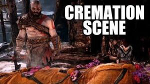 GOD OF WAR - Cremation Scene Faye Funeral