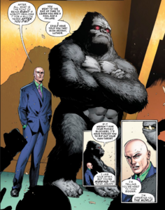 Luthor ask Grodd to join the team.