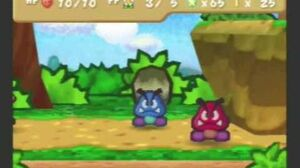 Paper Mario- Red & Blue Goomba