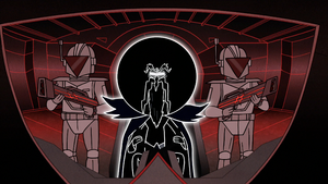 S8E15.134 Anti-Pops Piloting a Fighter Ship