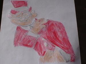 Cat R. Waul drawing
