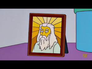 Simpsons God face