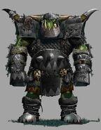 Black orc warrior