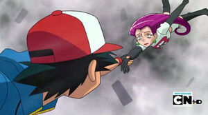 Ash Saved Jessie.