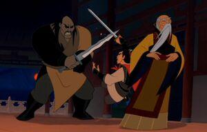 Shang intervenes Shan Yu's kill