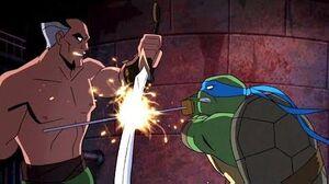 Batman vs TMNT Leonardo vs Ra's al Ghul Batman vs Shredder Final Battle