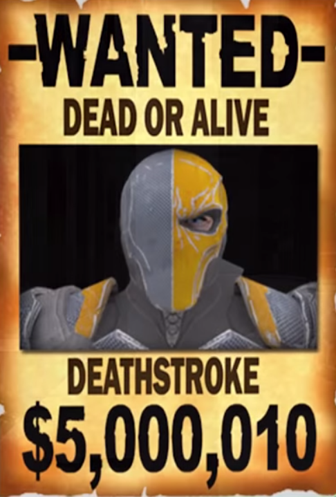 deathstroke wanted posterpng