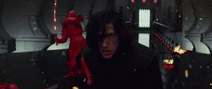 Kylo fights the guards