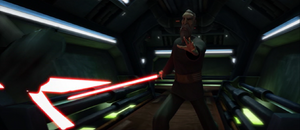 Count Dooku pushes