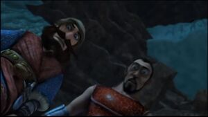 Krogan and Johann hear bewilderbeast