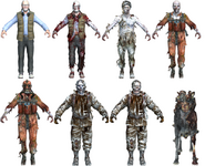 Call of the Dead zombie character models BO