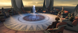 Chancellor Palpatine Jedi Council