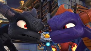 Dark Spyro and Spyro