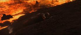 Darth Vader smoldering