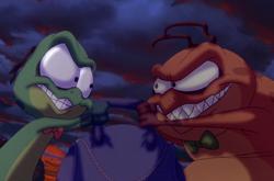 The Nerdlucks' evil grins