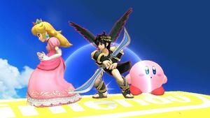 Dark pit princess peach and kirby by user15432-dacwt2x