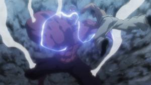 Menthuthuyoupi hit by Killua's lightning