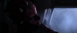 Darth Maul passed out