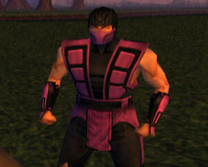 Rain in Konquest Mode, with his UMK3 costume