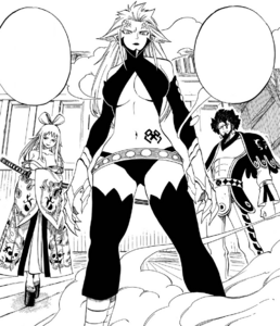 Ikaruga, Kyôka and Azuma Historias stand against Erza
