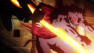 Akame ga Kill Episode 19 Kill the Fate Mine Slices Koro in Half (2)